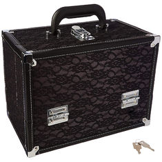 High Durability Makeup Stylist Train Case With Spacious Interior Storage