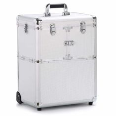 Pull - Out Wheeler Makeup Trolley Case Easy To Move With Inner Velvet Lining